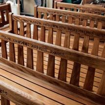 Anfertigung von Sitzbänken