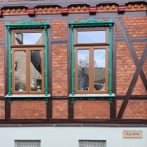 Denkmalfenster nach Außen öffnend